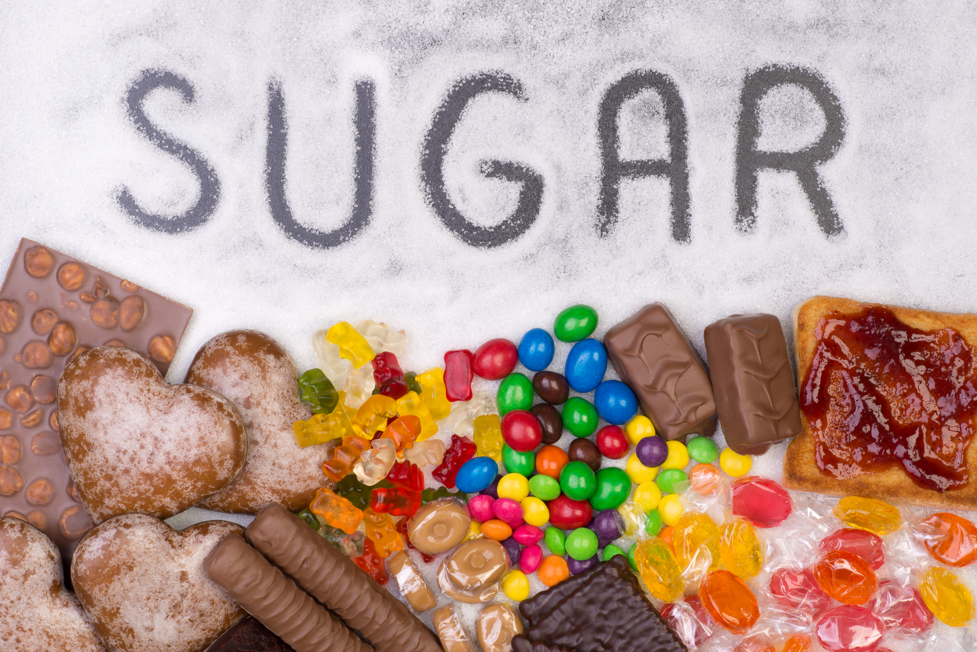 Food containing sugar