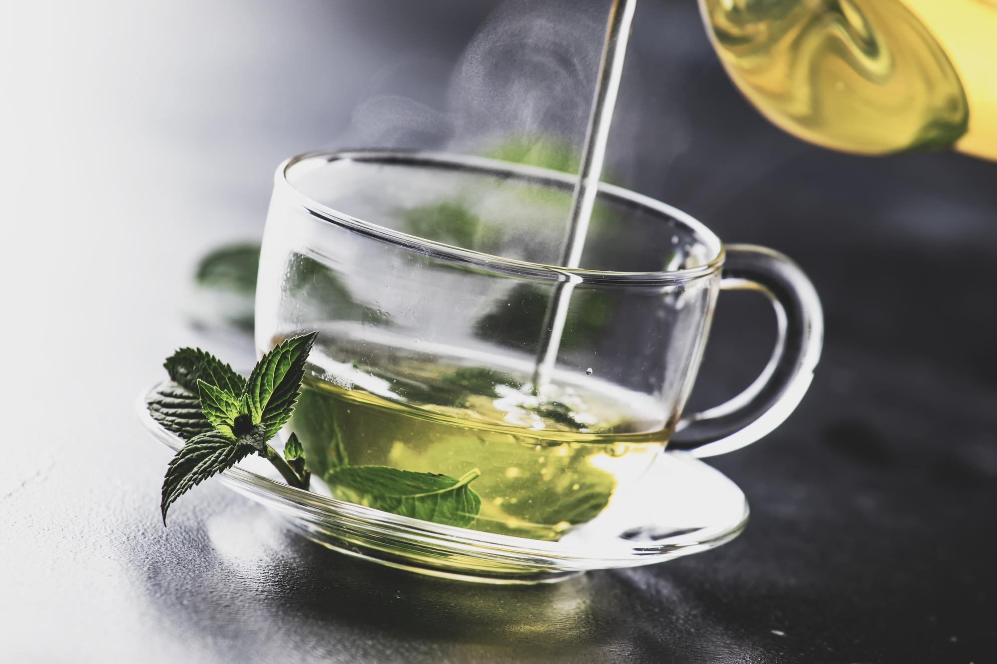 Hot chinese green tea